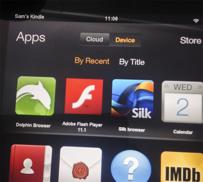 Adobe Flash Player and Dolphin Browser for the Kindle Fire HDX